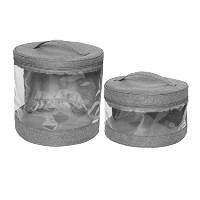 Jj Cole Clear Storage Bin Set Slate by JJ Cole