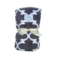 LUXE BABY Stroller Baby Blanket, Modern Grey by Luxe Baby