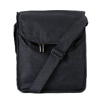 Artecobags Insulated Messenger Style Lunch Tote Bag - Solid Black by Artecobags