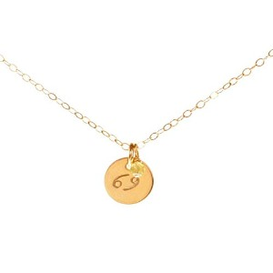 Leoネックレス – Tiny Gold Filled Simple Zodiac Sign with誕生月チャーム、ゾディアックペンダント