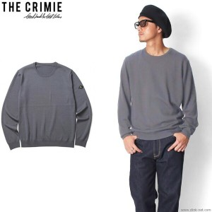 ★SALE 30%OFF★【CRIMIE/クライミー】CRIMIE HIGH GAUGE MERINO WOOL KNIT SWEATER (GRAY) [C1G5-KN02]★CLINK...