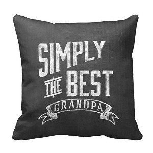Great Gift For Grandparents Day Or Grandpas Birthday Pillow Decorative Inspirational Quotes Pillow...