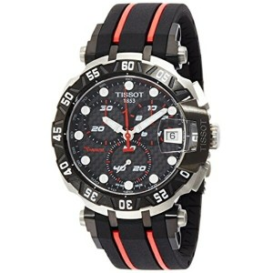 ティソ Tissot 腕時計 メンズ 時計 Tissot Men's T-Race T0924172720100 Black Rubber Swiss Chronograph Watch