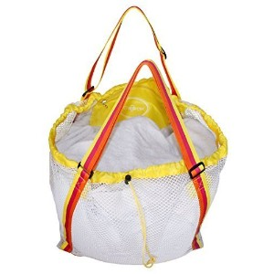 Raqpak Mesh Beach Bag Best for Kids, Baby Toys Foldable Extra Large and Sand Proof (76x47cm, Yellow...