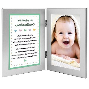 Will You Be My Godmother? Keepsake Frame - Add Baby Photo by Poetry Gifts