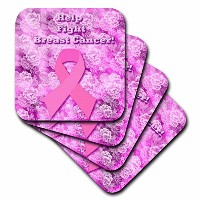 Edmond Hogge Jr Health – ヘルプFight Breast Cancer – コースター set-of-4-Soft cst_46507_1
