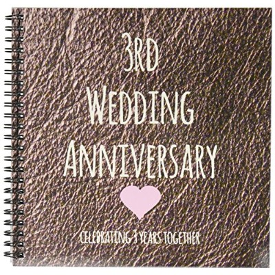 InspirationzStore–3rd結婚記念日ギフト–レザーCelebrating 3Years Together Third Anniversaries 3つYrs–...