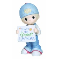 "Precious Moments, Grandparents' Day Gifts, ""You're The Greatest Grandma"", Bisque Porcelain Figurine..."