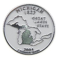 State Quarter Magnet - Michigan by Classic Magnets