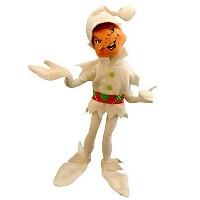 2014 Annalee Dolls 12 Cheery White Elf for Christmas Posable