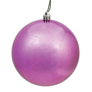 "Vickerman n591245dsv Shiny Ball Ornaments with飛散防止UV耐性、pre-drilledキャップ保護& 6 ""の緑の花柄ワイヤで4 perバッグ、4..."
