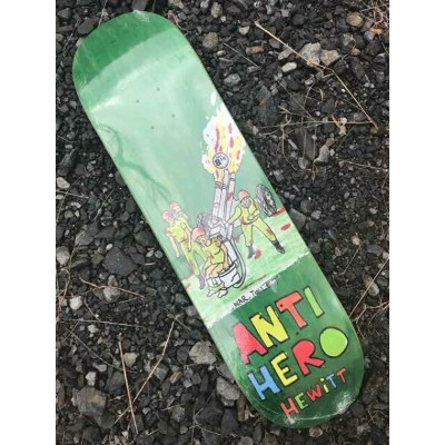 【ANTI HERO】HEWITT POROUS WALKER ROUND 2 DECK 8.75x 32.86スケートボード デッキ FULL Concave
