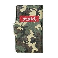 X-girl(エックスガール)CAMOUFLAGE FLIP CASE