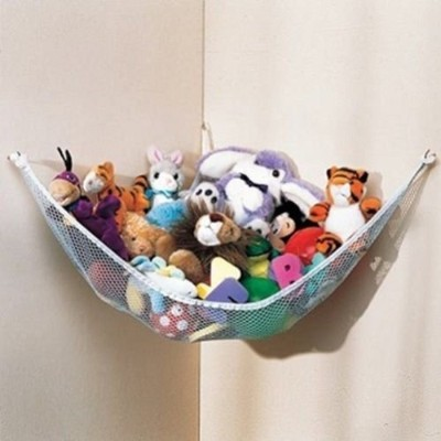 Dozenegg Stuffed Animal & Toy Organizer Hammock Pet Net, White Net and Trim, Model: white pet net...