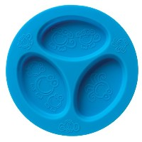 oogaa Silicone Baby and Toddler Divided Plate - Blue by oogaa