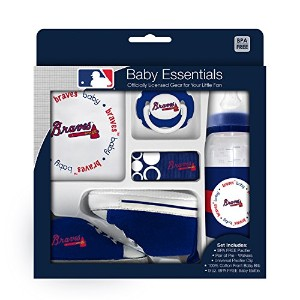 Baby Fanatic 5 Piece Gift Set, Atlanta Braves by Baby Fanatic