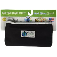 Planet Wise Zipper Snack Bag, Black by Planet Wise