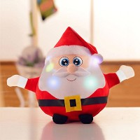 "8.7 "" Animated Musicalサンタクロース/トナカイ図Kids Soft Plush Stuffed Toy DollライトUp SingingクリスマスFigurine..."