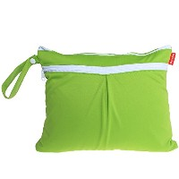 Damero New Cute Travel Baby Wet and Dry Cloth Diaper Organizer Bag, Green by Damero
