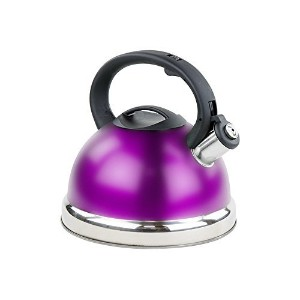 Stainless Steel Whistling Tea Kettle or Tea Maker w/ Encapsulated Base 2.8 L - Purple by Imperial...