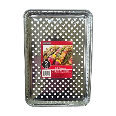 Foil Disposable Grill Topper Trays, 2-ct. Packs - 5 1/2 X 10 3/8 - (5 Packs of 2)