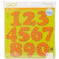 AccuQuilt GO! Fabric Cutting Dies Carefree Numbers 3 by AccuQuilt