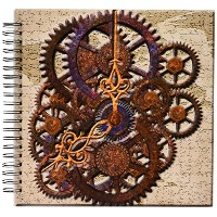 Spiritual Awakeningsパターン – Steam Punk Cog Wheels in Bronze – Drawing Book 12 by 12-Inch db_108102_2