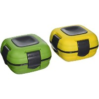 Pinnacle Thermoware Insulated Lunch Box, Yellow/Green (Set of 2) by Pinnacle Thermoware