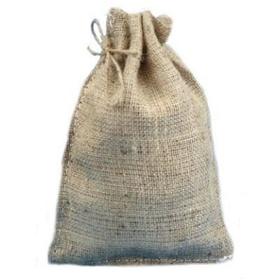 8 X 12 Burlap Bags with Drawstring - Lot of 10 by Premium Bags