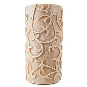 4x 8Carved VinesトープFlameless Candle by Amazing Flameless Candle
