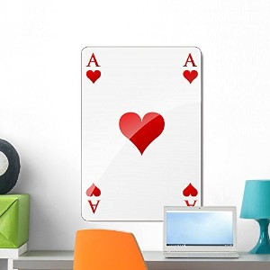 Wallmonkeys WM55669 Vector Ace of Hearts Peel and Stick Wall Decals (24 in H x 17 in W) by...