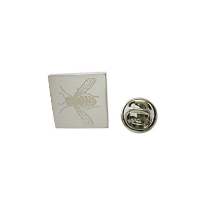 Silver Toned Etched Wasp Insectラペルピン