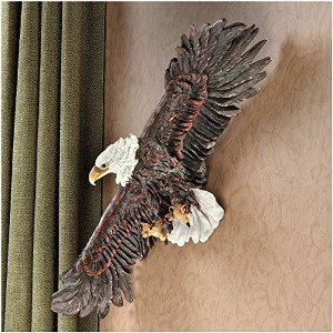 Design Toscano Strength of the Skies Eagle Wall Sculpture [並行輸入品]