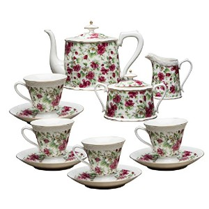 Grace茶道具11-piece Porcelain Teaセット TS-MF426/11