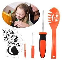 Halloween Pumpkin Carving Kit Kids merrymore 4 Halloween Pumpkin Carvingツール& 8フリーHalloween...