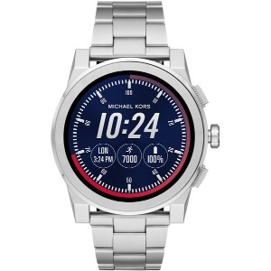 メンズ MICHAEL KORS ACCESS Grayson Touchscreen Smartwatch スマートウォッチ シルバー