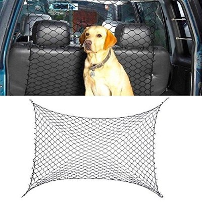 Pet Safety Net Car Suv Truck Van Seat Mesh Dog Barrier Safety Travel Black 54X42 by ATB