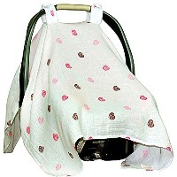 Baby Car Seat Covers To Protect From Sun Burn, Bugs, & Dust. Soft & Breathable Muslin Cotton Baby...