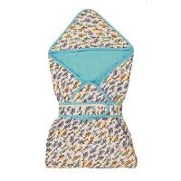 Cigogne BeBe Airplane Cotton Swaddler One Size Blue ... by Cigogne BeBe