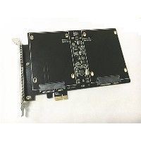 PCI Express (PCIe) SATA III dual SSD Adapter with 1 SATA III port, No power connection needed, best...