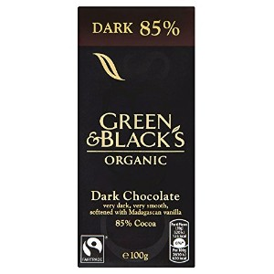 Green & Blacks Org Dark Chocolate 85% 100 g (order 15 for trade outer) / グリーンWWWWブラックダークチョコレート公社85%...