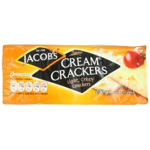 Jacob's Cream Crackers. 200g Pack (Pack of 6) by Jacob's
