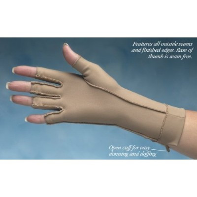 Therapeutic Open-Finger Gloves Size: Small by Totes