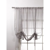 Stylemaster Lucky Stripe Shade with tie-ups、シルバー、44-inch by 63インチ