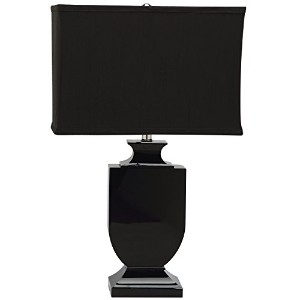 Safavieh Lighting Collection Darcy Black Crystal Urn 23.5-inch Table Lamp by Safavieh