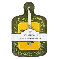 Le Cadeaux Cucinaチーズボードwithナイフ、グリーン