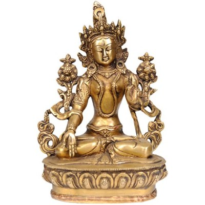 GoddessホワイトTara – Who Bestows Endless Life to Her Devotees – 真鍮Statue