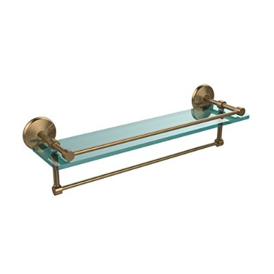 (Brushed Bronze) - Allied Brass MC-1TB/83.3lBBR 60cm Gallery Glass Shelf with Towel Bar, Brushed...