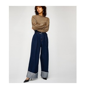 ROLL UP HW BELTED WIDE【マウジー/MOUSSY レディス デニム One Wash ルミネ LUMINE】