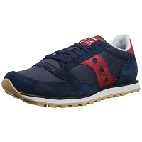 Saucony Men's Jazz Low Pro Sneaker(サッカニージャズ ロープロ) S2866-167 Navy/Red US 9